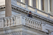 Security Guard at the Capitol Building the day before the  Inauguration of Donald Trump as 45th President in Washgington D.C.