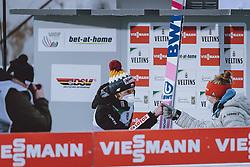 01.01.2021, Olympiaschanze, Garmisch Partenkirchen, GER, FIS Weltcup Skisprung, Vierschanzentournee, Garmisch Partenkirchen, Einzelbewerb, Herren, Siegerehrung, im Bild Sieger Dawid Kubacki (POL) // Winner Dawid Kubacki of Poland during the winner ceremony for the men's individual competition for the Four Hills Tournament of FIS Ski Jumping World Cup at the Olympiaschanze in Garmisch Partenkirchen, Germany on 2021/01/01. EXPA Pictures © 2020, PhotoCredit: EXPA/ JFK