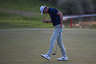 Martin Laird (SCO) reacts after sinking his birdie putt on the second playoff hole to win the 2020 Shriner's Hospital for Children Open, TPC Summerlin, Las Vegas, NV. 10/11/2020.<br /> Picture: Golffile | Ken Murray<br /> <br /> <br /> All photo usage must carry mandatory copyright credit (© Golffile | Ken Murray)