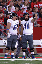 NORMAL, IL - September 08: Ben Solomon, Cole Hoover during 107th Mid-America Classic college football game between the ISU (Illinois State University) Redbirds and the Eastern Illinois Panthers on September 08 2018 at Hancock Stadium in Normal, IL. (Photo by Alan Look)