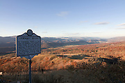 Information sign about German Valley in Allegheny Mountains. West Virginia. United States of America.