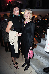 Left to right, MARIE HELVIN and SANDRA HOWARD at the Costa Book Awards 2009 held at Quaglino's, 16 Bury Street, London SW1 on 26th January 2010.