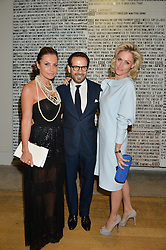 Left to right, ELLA KRASNER, ROBERT TOMEI and TANJA GULLESTRUP at the annual Royal Academy of Art Summer Party held at Burlington House, Piccadilly, London on 4th June 2014.