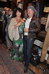 DEBORAH WAKELEY and BRENDAN FOWLES at a reception hosted by Ralph Lauren Double RL and Dexter Fletcher before a private screening of Wild Bill benefitting FilmAid held at RRL 16 Mount Street, London on 26th March 2012.