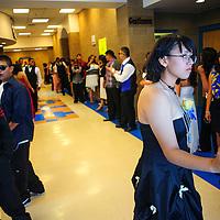 053113  Adron Gardner/Independent<br /> <br /> DeAngela Goggans, right, awaits the call to usher Zuni Thunderbird seniors to their graduation ceremony at Zuni High School in Zuni Friday.