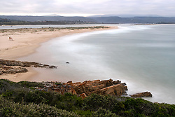 "South Africa - Plettenberg Bay - 6 June 2020 - A photo editing technique using average image stacking combines multiple images into one image to simulate one long exposure. Pictured is Lookout Beach as seen from the Whale Tale view site. According to SA-Venues ""Lookout Beach is one of the most popular spots in Plettenberg Bay for the seemingly-endless stretches of white sandy beaches and warm Indian Ocean waters. Lookout Beach enjoys a spectacular setting, with views of the Keurbooms River and the mountains of the Garden Route in the distance."" Picture: David Ritchie/African News Agency(ANA)"