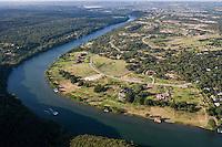 Lake Austin Aerial, West of Austin, TX