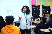 """Chinmoyee Datta, was brought to Durant Mississippi from India to teach in a troubled school district where there is a teacher shortage. She and her husband, also a teacher,  have both raised test scores of the students. They do not have enough qualified people to teach; there is a problem finding teachers to teach in this rural Mississippi town. Almost half of the people in Durant live in poverty and 100 % of the students are on the free lunch program. The Datta's are waiting for their green card and would like to stay and teach. """"We came legally, we pay taxes and we are serving the community."""" said Ms. Datta. Photo by Karen Pulfer Focht ©"""