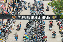 Main Street Sturgis during the annual Black Hills Motorcycle Rally. SD, USA. August 6, 2014.  Photography ©2014 Michael Lichter.