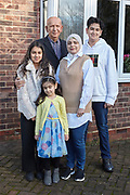 19th December 2020 - Ordered by Picture Desk<br /> Dr Abbas Al-Qafaji, Edge Avenue, Grimsby, who is hoping to get a private liver transplant.<br /> Pictured with his wife Farah (aged 42) and his children left to right: Nawal (aged 11), Dalal (aged 4) and Saif (aged 14).
