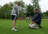 Junior golf lessons with Randy Annis at Bolduc Park in Gilford,  Karen Bobotas for the Laconia Daily Sun