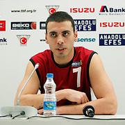 Erdemir's Mutlu Akpinar during their Turkish Basketball League match Anadolu Efes between Erdemir at Arena in Istanbul, Turkey, Wednesday, January 28, 2012. Photo by TURKPIX