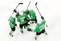 Players of Olimpija celebrate during ice hockey match between HDD Olimpija Ljubljana and Dornbirner EC in Erstebank league season 2016/17, on October 24, 2016 in Hala Tivoli, Ljubljana, Slovenia. Photo by Morgan Kristan / Sportida