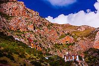 Drak Yerpa Monastery, Dagze, Tibet (Xizang), China.