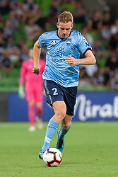 January 26, 2019 - Melbourne, VIC, U.S. - MELBOURNE, AUSTRALIA - JANUARY 26: Sydney FC defender Aaron Calver (2) runs the ball downfield at the Hyundai A-League Round 16 soccer match between Melbourne Victory and Sydney FC on January 26, 2019, at AAMI Park in VIC, Australia. (Photo by Speed Media/Icon Sportswire) (Credit Image: © Speed Media/Icon SMI via ZUMA Press)