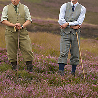 The head gamekeepers Gavin Hannam and the under keeper John Carslake of Glen Lethnot estate make the final checks and preparations .in the build up  to the Glorious 12th, the official start of the red grouse shooting season (this year Monday 13th August)  ANGUS, SCOTLAND AUG 10 ..The Glorious Twelfth is usually used to refer to August 12, the start of the open season for grouse shooting in the United Kingdom. This is one of the busiest days in the shooting season, with large amounts of game being shot. It is also a major boost to the rural economy. ..Since the start of the season traditionally does not begin on a Sunday, it is sometimes postponed to August 13, as in 2001 . In recent years, the event has been hit by hunt saboteurs, the 2001 foot and mouth crisis (which further postponed the date in affected areas ) and the effect of sheep tick and the gut parasite Trichostrongylus tenius...The Game Conservancy Trust conducts scientific research into Britain's game and wildlife. Advising farmers and landowners on improving wildlife habitat and lobbying for agricultural and conservation policies based on science..Many of their  supporters take part in field sports.