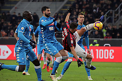 January 26, 2019 - Milan, Milan, Italy - Mateo Musacchio #22 of AC Milan in action during the serie A match between AC Milan and SSC Napoli at Stadio Giuseppe Meazza on January 26, 2018 in Milan, Italy. (Credit Image: © Giuseppe Cottini/NurPhoto via ZUMA Press)