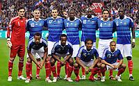 Fotball<br /> Frankrike v Østerrike<br /> Foto: DPPI/Digitalsport<br /> NORWAY ONLY<br /> <br /> FOOTBALL - FIFA WORLD CUP 2010 - QUALIFYING ROUND - GROUP 7 - FRANCE v  AUSTRIA - 14/09/2009<br /> <br /> LAGBILDE FRANKRIKE ( BACK ROW LEFT TO RIGHT : HUGO LLORIS / KARIM BENZEMA / SEBASTIEN SQUILLACI / ROD FANNI / ALOU DIARRA / JULIEN ESCUDE / MOUSSA SISSOKO . FRONT ROW : THIERRY HENRY / SIDNEY GOVOU / FLORENT MALOUDA / GAEL CLICHY )