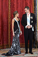 110617 Spanish Royals and President Of Israel Attend a Gala Dinner