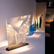 NLD/Amsterdam/20181118- Prinses Margarita geeft rondleiding op Pan Amsterdam, Glas kunst