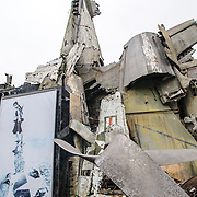 The wreckage of an American B-52 bomber on display at the Vietnam Military History Museum. The museum was opened on July 17, 1956, two years after the victory over the French at Dien Bien Phu. It is also known as the Army Museum (the Vietnamese had little in the way of naval or air forces at the time) and is located in central Hanoi in the Ba Dinh District near the Lenin Monument in Lenin Park and not far from the Ho Chi Minh Mausoleum.