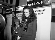 09/01/1981.01/09/1981.9th January 1981.The Aer Lingus Young Scientist of the Year Award at the RDS, Dublin ..Catherine Conlan from Muckross Park College, Donnybrook, Dublin who was the winner of the Young Scientist award for her project 'A Study of Physical, Anatomical and Biochemical Aspects of the Spider and His Web Making Processes.'.