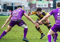 Newport's Rhys Cresswell in action - Mandatory by-line: Craig Thomas/Replay images - 04/02/2018 - RUGBY - Rodney Parade - Newport, Wales - Newport v Ebbw Vale - Principality Premiership