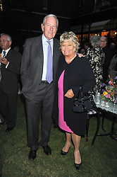 TV presenter JUDITH CHALMERS and her husband MR NEIL DURDEN-SMITH at the Goring Hotel Summer party, Goring Hotel, 15 Beeston Place, London on 17th September 2008.