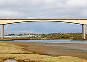 Central span Orwell Bridge, crossing River Orwell, Ipswich, Suffolk, England, UK