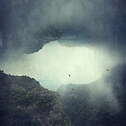 Image manipulation - foggy mountains on the island of La Palma/Canary Islands/ Spain<br /> <br /> Prints & More:https://society6.com/product/the-opening-ovo_print#1=45