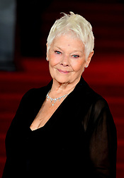 Dame Judi Dench attending the world premiere of Murder On The Orient Express at the Royal Albert Hall, London.