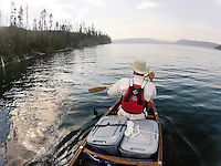 Once through the Lewis Channel, paddlers can take in the expanse of Shoshone Lake. At more than six miles wide and four miles long at its widest points, it is considered the largest backcountry lake in the lower 48 states that cannot be reached by a road.