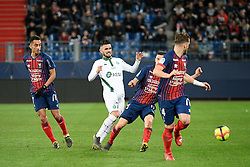 March 16, 2019 - Caen, France - 07 REMY CABELLA (ASSE) - 07 SAIF EDDINE KHAOUI  (Credit Image: © Panoramic via ZUMA Press)