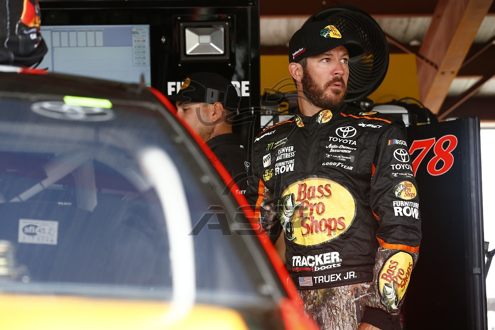 April 29, 2017 - Richmond, Virginia, USA: Martin Truex Jr. (78) hangs out in the garage during practice for the Toyota Owners 400 at Richmond International Speedway in Richmond, Virginia.