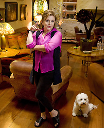 CARRIE FRANCES FISHER (October 21, 1956 – December 27, 2016) the actress best known as Star Wars' Princess Leia Organa, has died after suffering a heart attack. She was 60. Pictured: October 11, 2012 - Beverly Hills, CA, USA - Actress Carrie Fisher poses during an interview at her home in Coldwater Canyon in 2012. (Credit Image: © Leonard Ortiz/The Orange County Register via ZUMA Wire)