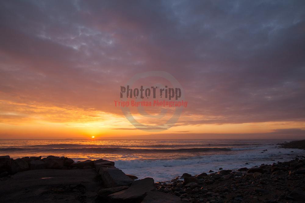 Today's  winter sunrise at Narragansett Town Beach,  .  February  28, 2013.