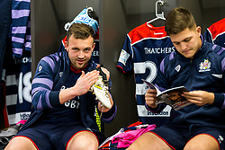 Andy Uren of Bristol Rugby cleans his boots in the dressing room - Rogan/JMP - 22/12/2017 - RUGBY UNION - Ashton Gate Stadium - Bristol, England - Bristol Rugby v Cornish Pirates - Greene King IPA Championship.