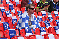 Chelsea supporter waiting for the match to start during the The FA Cup final match between Arsenal and Chelsea at Wembley Stadium, London, England on 27 May 2017. Photo by Shane Healey.