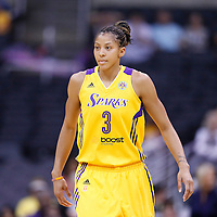 25 May 2014: Los Angeles Sparks forward/center Candace Parker (3) rests during the Los Angeles Sparks 83-62 victory over the San Antonio Stars, at the Staples Center, Los Angeles, California, USA.