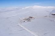 Alaska. Modern gold mining operation on the Seward Peninsula, outside of Nome.
