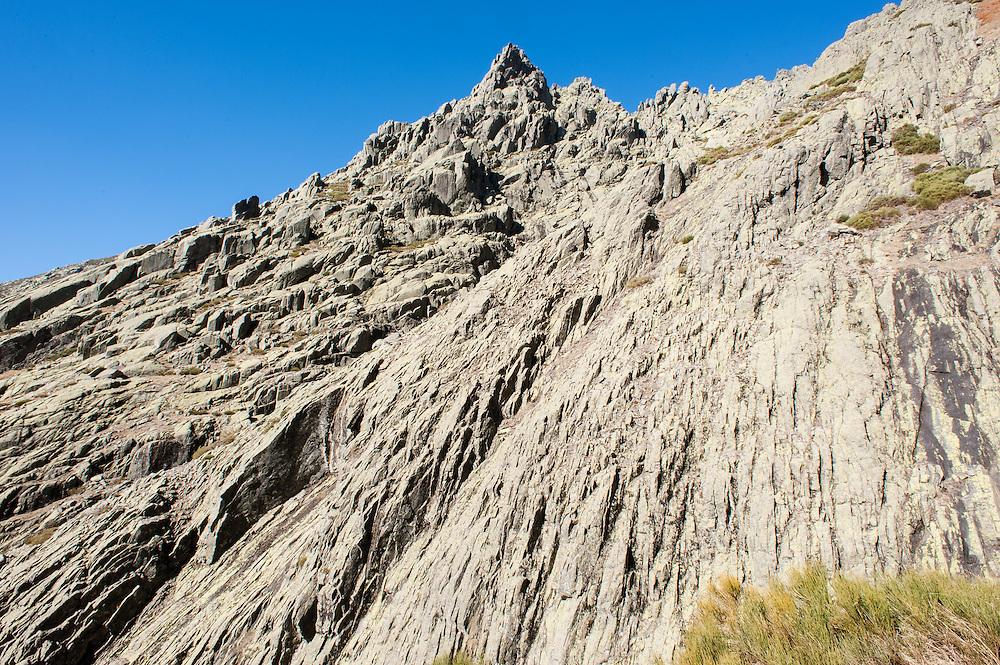 Rock wall in Sierra de Gredos (Spain)