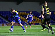 AFC Wimbledon attacker Ryan Longman (29) about to shoot during the EFL Sky Bet League 1 match between AFC Wimbledon and Bristol Rovers at Plough Lane, London, United Kingdom on 5 December 2020.