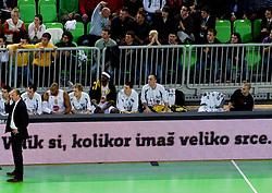 Head coach of Olimpija Jure Zdovc during basketball match between KK Union Olimpija (SLO) and Efes Pilsen (Tur) in Group D of Turkish Airlines Euroleague, on October 20, 2010 in SRC Stozice, Ljubljana, Slovenia. Union Olimpija defeated Efes Pilsen after 2 overtimes 95 - 90. (Photo By Vid Ponikvar / Sportida.com)
