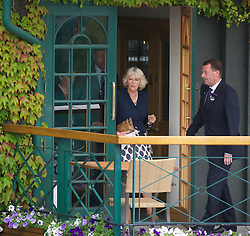 LONDON, ENGLAND - Wednesday, June 22, 2011: Camilla Parker Bowles, also known as Duchess of Cornwall, visits Wimbledon on a royal freebie on day three of the Wimbledon Lawn Tennis Championships at the All England Lawn Tennis and Croquet Club. (Pic by David Rawcliffe/Propaganda)