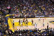 Golden State Warriors forward David West (3) shoots a jumper against the Cleveland Cavaliers at Oracle Arena in Oakland, Calif., on January 16, 2017. (Stan Olszewski/Special to S.F. Examiner)