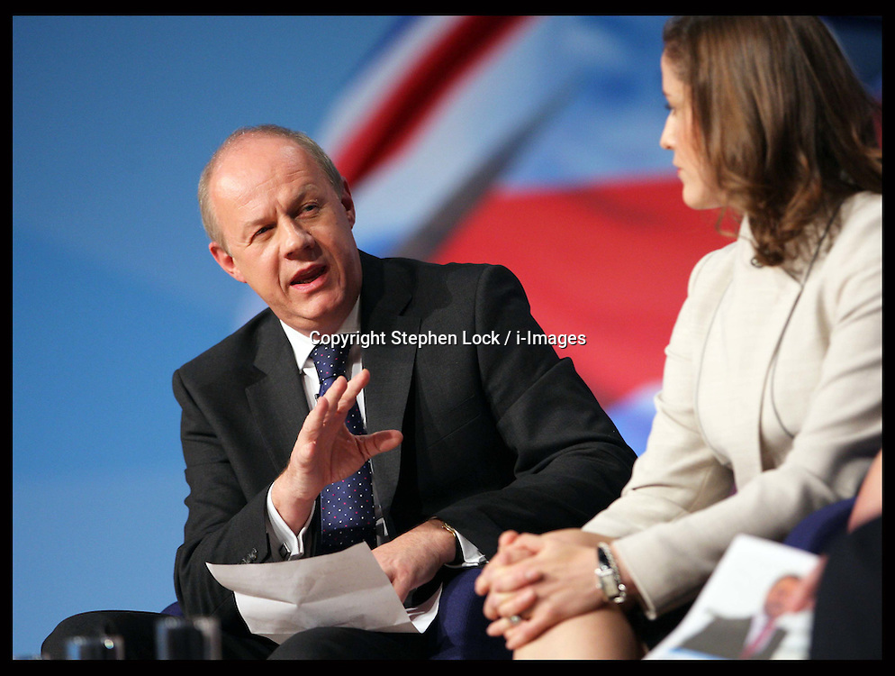 Damian Green speech  at the Conservative Party Conference in Birmingham, Tuesday, 9th October 2012. Photo by: Stephen Lock / i-Images