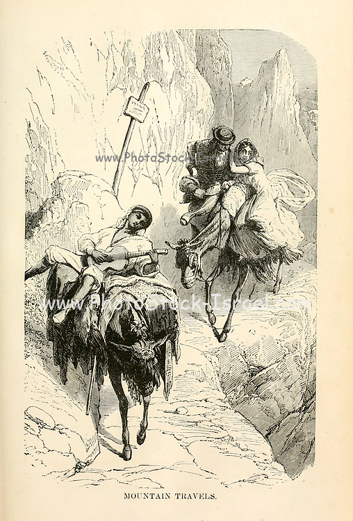 Mountain Travels from the book Sights and sensations in Europe : sketches of travel and adventure in England, Ireland, France, Spain, Portugal, Germany, Switzerland, Italy, Austria, Poland, Hungary, Holland, and Belgium : with an account of the places and persons prominent in the Franco-German war by Browne, Junius Henri, 1833-1902 Published by Hartford, Conn. : American Pub. Co. ; San Francisco, in 1871