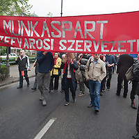 Workers' march on Labour Day 2011