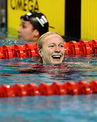 10-04-2014 NED: NK Swim Cup, Eindhoven<br /> Ranomi Kromowidjojo en Sarah Sjostrom SWE, 50 meter vrij