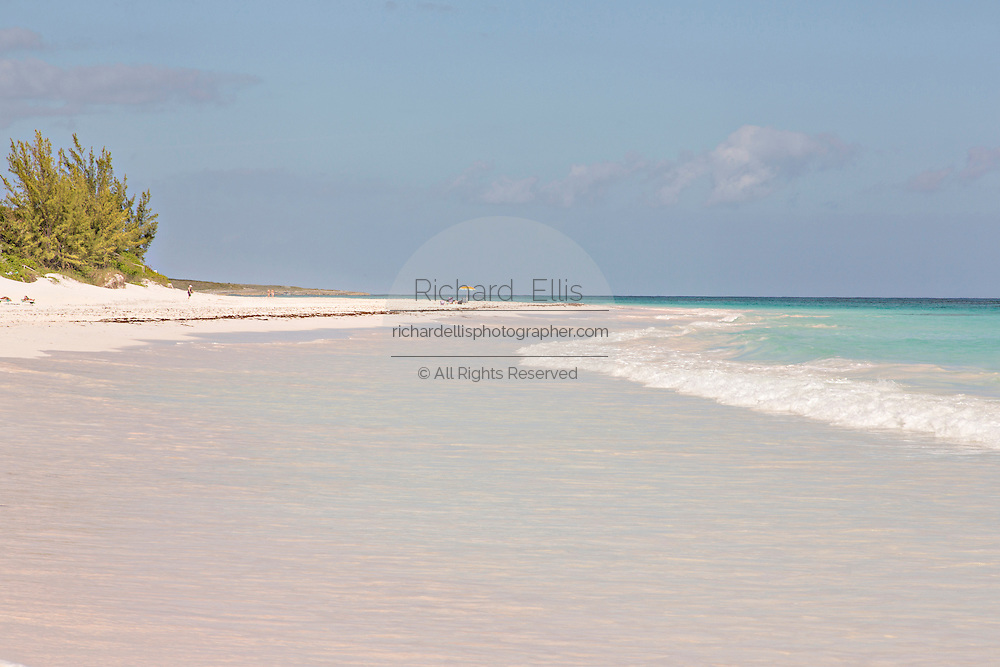 The pink sands beach in Dunmore Town, Harbour Island, The Bahamas